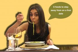 Foods to stay away from on a first date