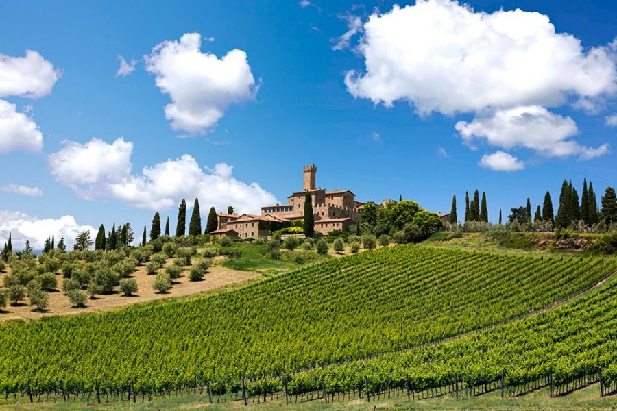 Countryside hotels in Montalcino: Castello Banfi