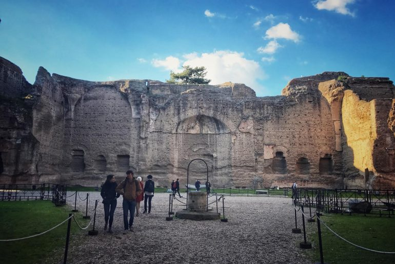 Terme di Caracalla with virtual reality