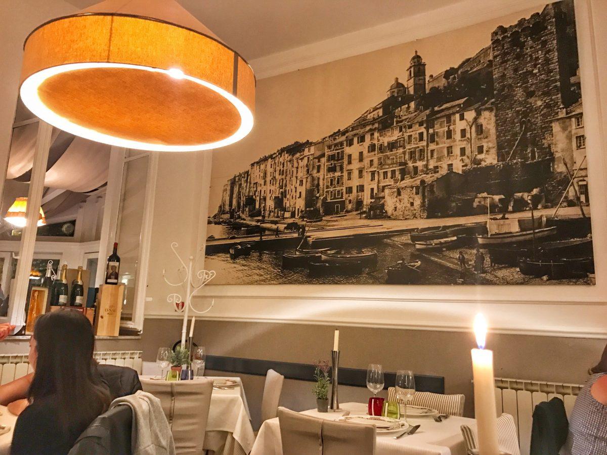 Le Tre Torri restaurant in Portovenere