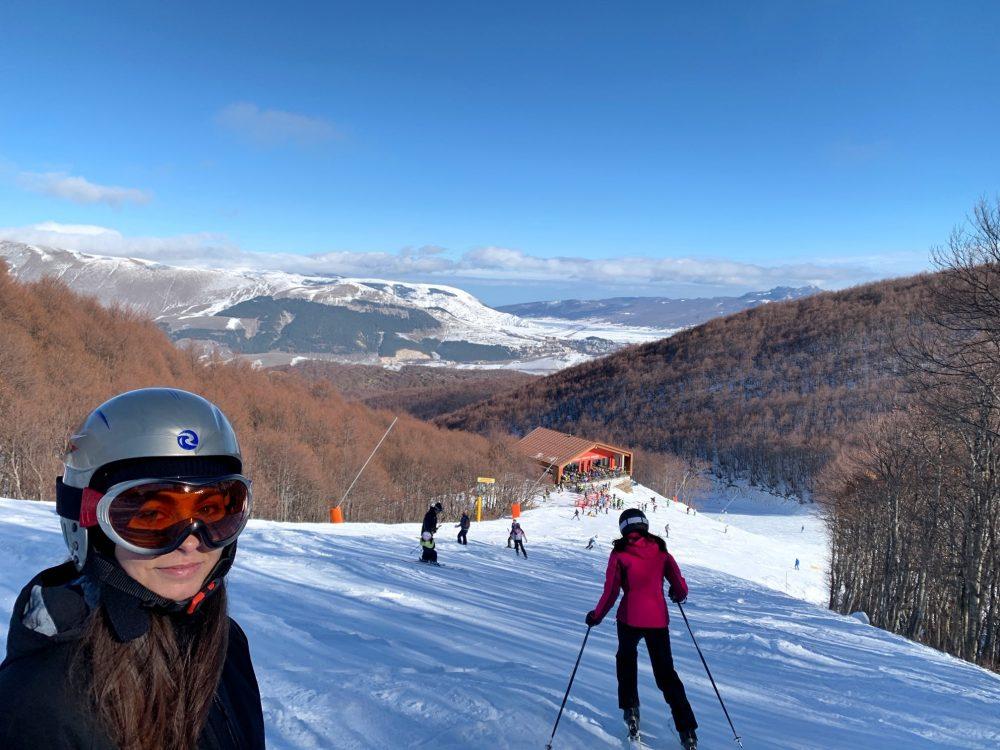 Skiing near Rome